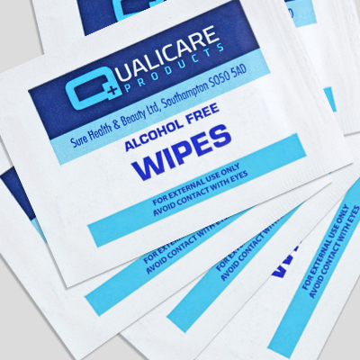 Alcohol Free Wipes - 100 Individual Sachets AFW100