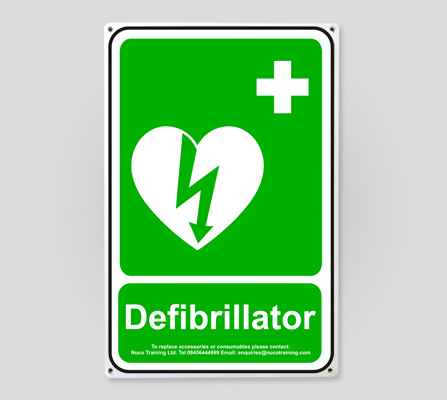 Defibrillator Wall Sign AEDWS