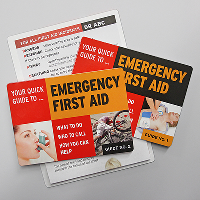 Emergency First Aid Guides<br />Nos. 1 and 2 in Packs of 12 EFAZCARD1&2