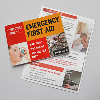 Emergency First Aid Guide No. 2 EFAZCARD2