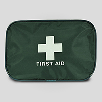 First Aid Bag - Large Green Canvas Pouch LP500