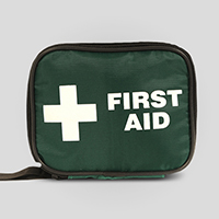 First Aid Bag - Small Green Canvas Pouch SP500