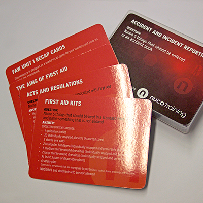 First Aid Recap Card Set 1 RECAPCARDS1