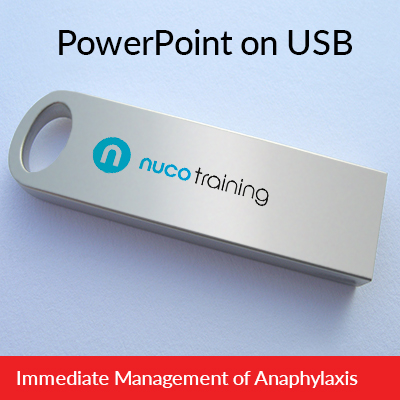 L3/L6 Immediate Management of Anaphylaxis PowerPoint USB IMOAUSB