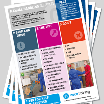Manual Handling Factsheet<br>- Set of 16 MHFS
