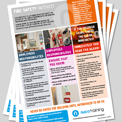 Fire Safety Factsheet - Set of 16 FSFS