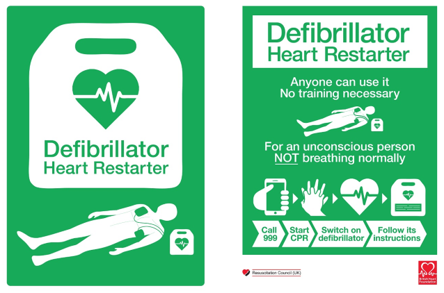 New AED Sign and Poster
